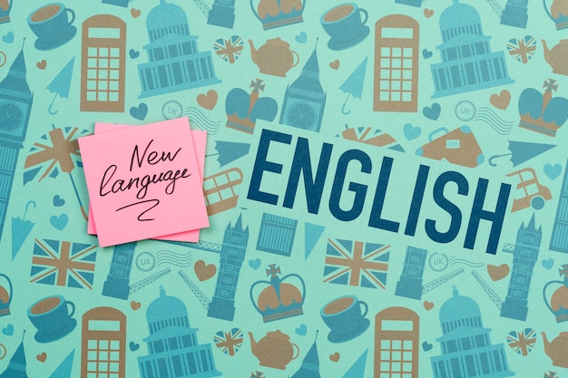 Makieta karteczek w nowym języku