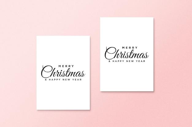 Makieta kartki z życzeniami z koncepcją świąteczną psd