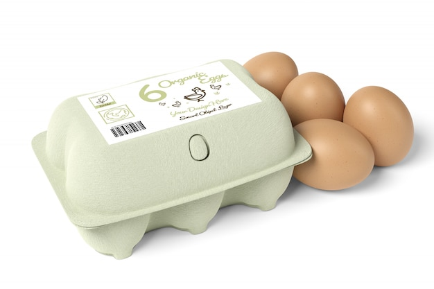 Makieta karton jajka