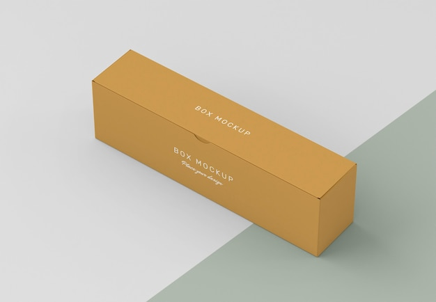 Makieta kartonowego pudełka do przechowywania