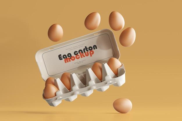Makieta kartonu jajecznego