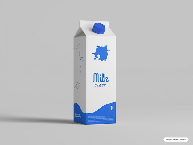 Makieta kartonu mleka