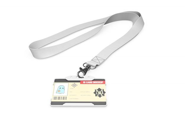 Makieta karty identyfikacyjnej na naszyjniku