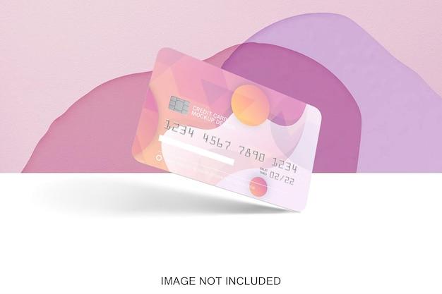 Makieta karty kredytowej na białym tle