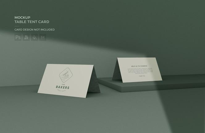 Makieta karty namiotu stołowego