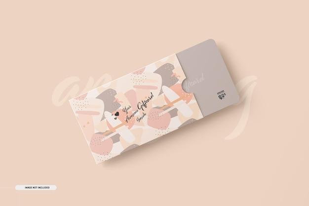 Makieta karty podarunkowej z posiadaczem karty