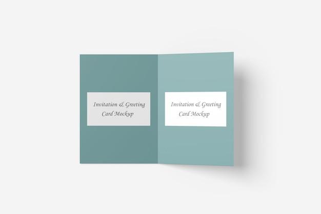 Makieta karty z pozdrowieniami lub zaproszeniem