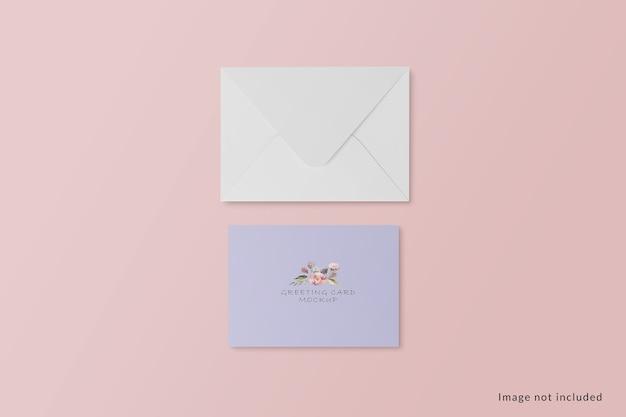 Makieta karty z pozdrowieniami