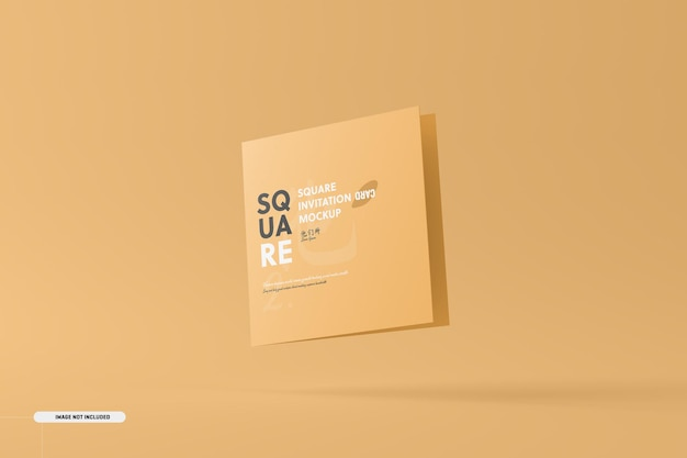 Makieta karty zaproszenie kwadratowe bifold