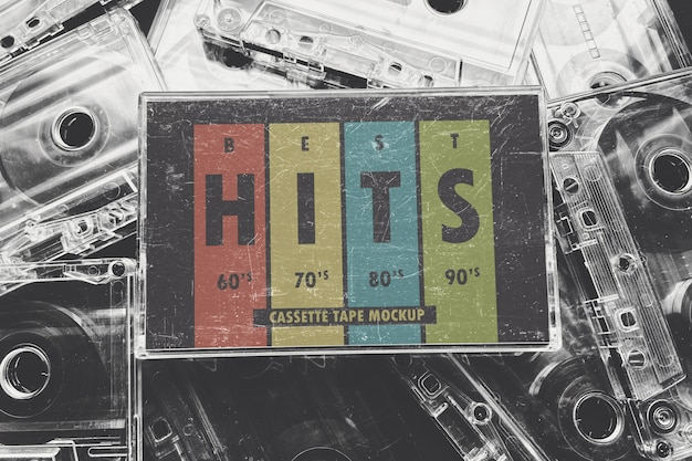 Makieta kasety z muzyką