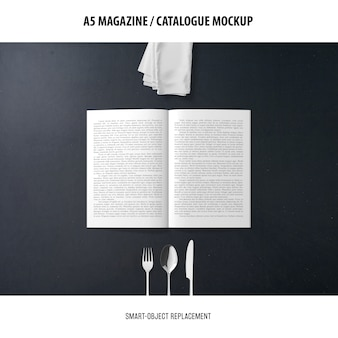 Makieta katalogu magazynu a5
