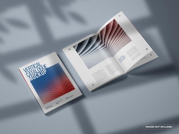 Makieta katalogu pionowego i magazynu