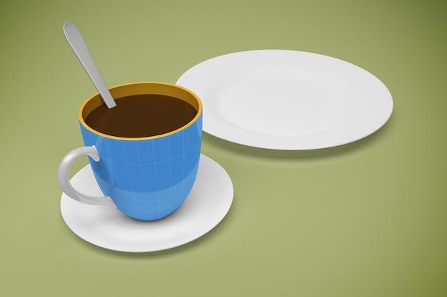 Makieta kawiarni