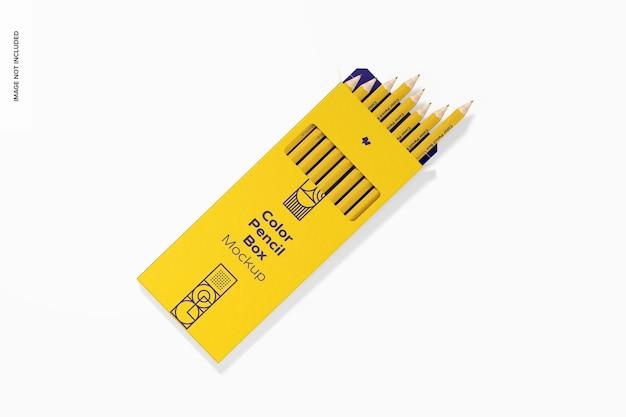 Makieta kolorowego ołówka, widok z góry