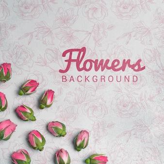 Makieta kolorowy koncepcja kwiaty