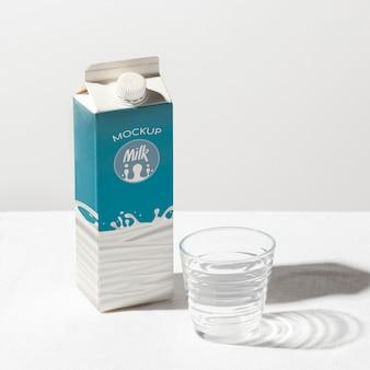 Makieta koncepcja butelki mleka