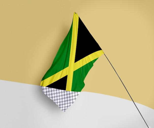 Makieta koncepcja piękna flaga