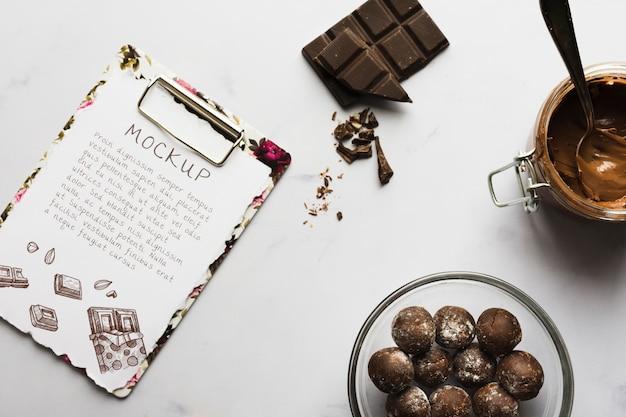 Makieta koncepcja pyszne czekolady