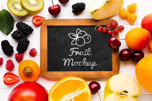 Makieta koncepcja pyszne owoce