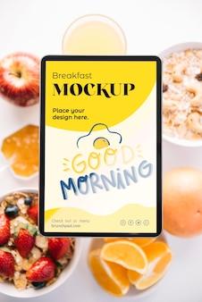 Makieta koncepcja pyszne śniadanie