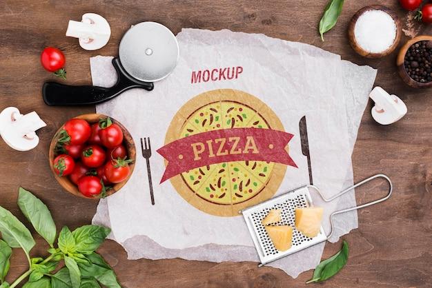 Makieta koncepcja pysznej pizzy