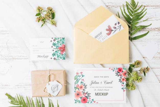 Makieta koncepcja ślubu kwiatowy