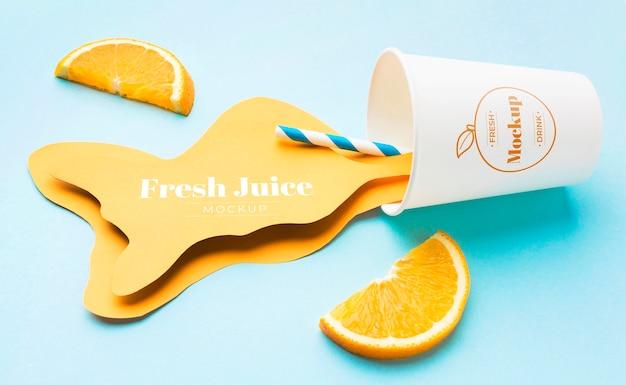Makieta koncepcja soku słodkiego napoju