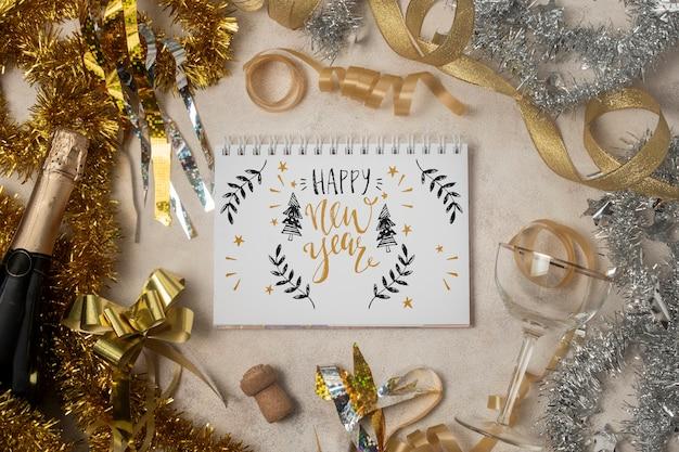 Makieta koncepcja szczęśliwego nowego roku