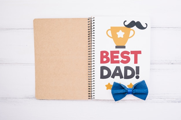Makieta koncepcja szczęśliwy dzień ojca