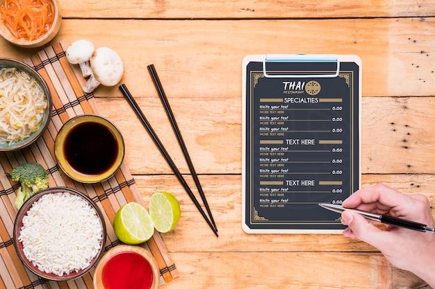 Makieta koncepcja tajskiej żywności