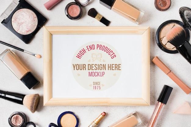 Makieta koncepcji akcesoriów do makijażu