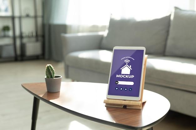 Makieta koncepcji automatyki domowej z cyfrowym tabletem