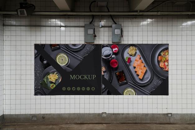 Makieta koncepcji billboardu miasta