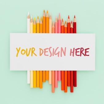 Makieta koncepcji biurka artysty
