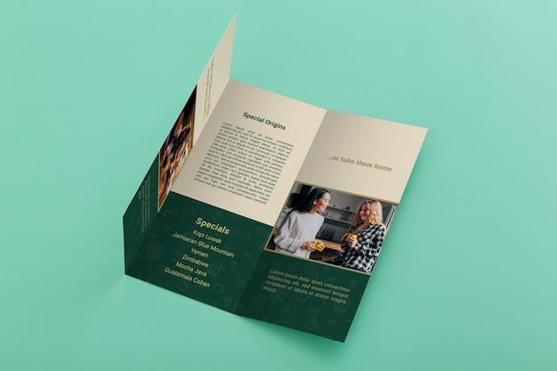 Makieta koncepcji broszury potrójnej