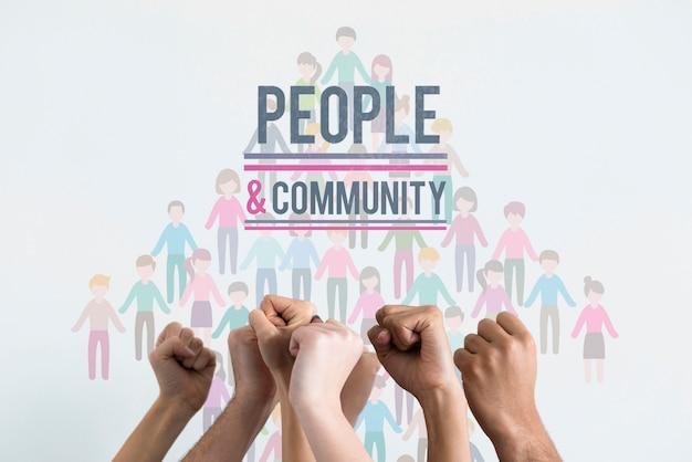 Makieta koncepcji etnicznej społeczności