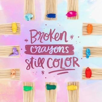 Makieta koncepcji kolorowe farby