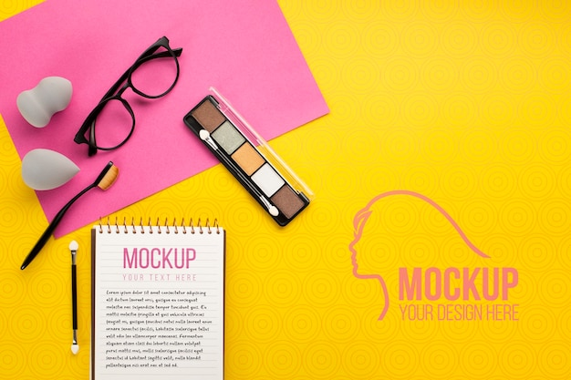 Makieta koncepcji kosmetycznej