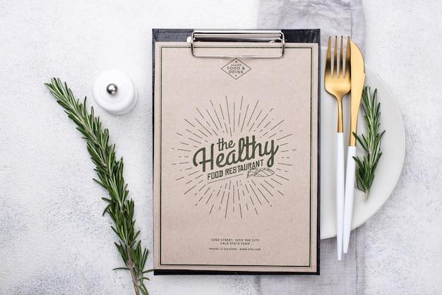 Makieta koncepcji menu restauracji