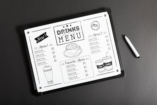 Makieta koncepcji menu żywności