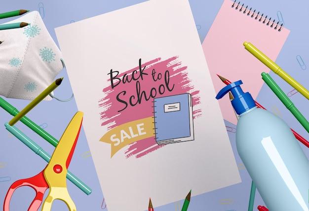 Makieta koncepcji powrót do szkoły