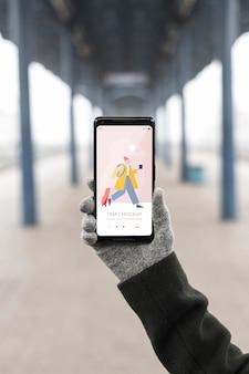 Makieta koncepcji pustego ekranu