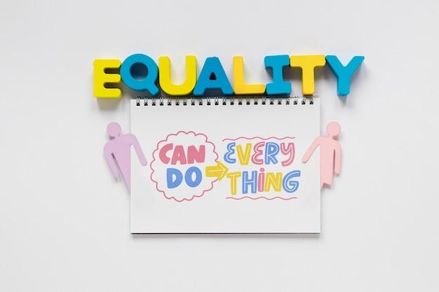Makieta koncepcji równości płci
