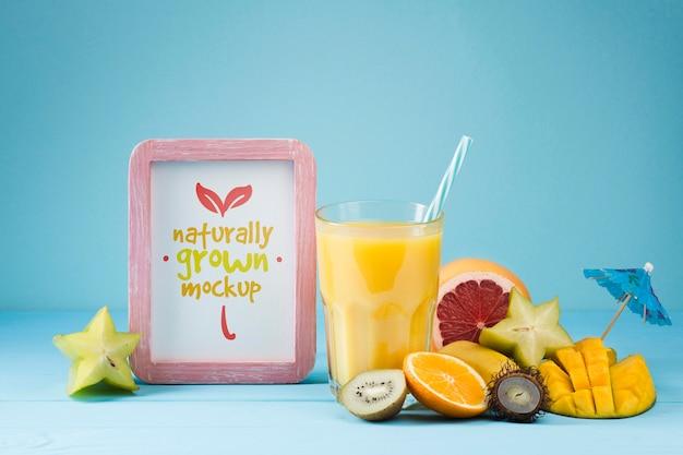 Makieta koncepcji soku i smoothie