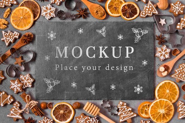 Makieta koncepcji świątecznych potraw