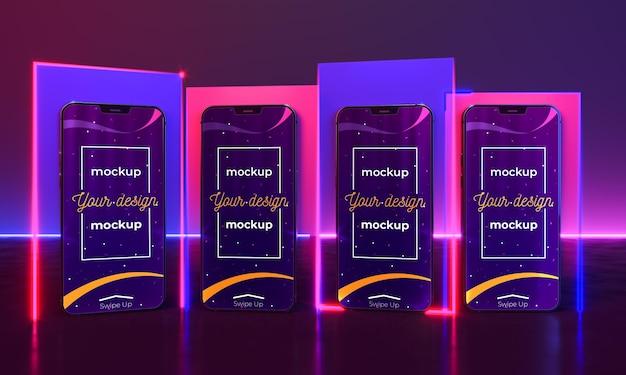 Makieta koncepcji urządzenia neonowego