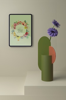 Makieta koncepcji wiosennej dekoracji