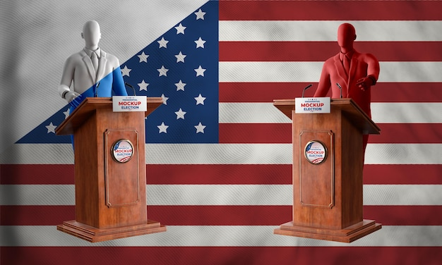 Makieta koncepcji wyborów w usa