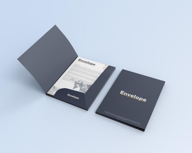 Makieta koperty papierowej