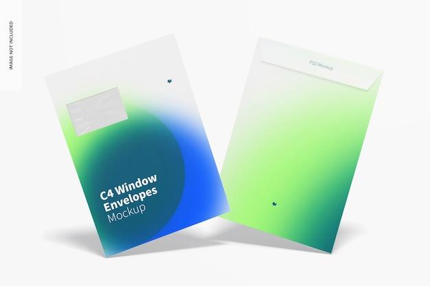 Makieta koperty z okienkiem c4, widok z przodu